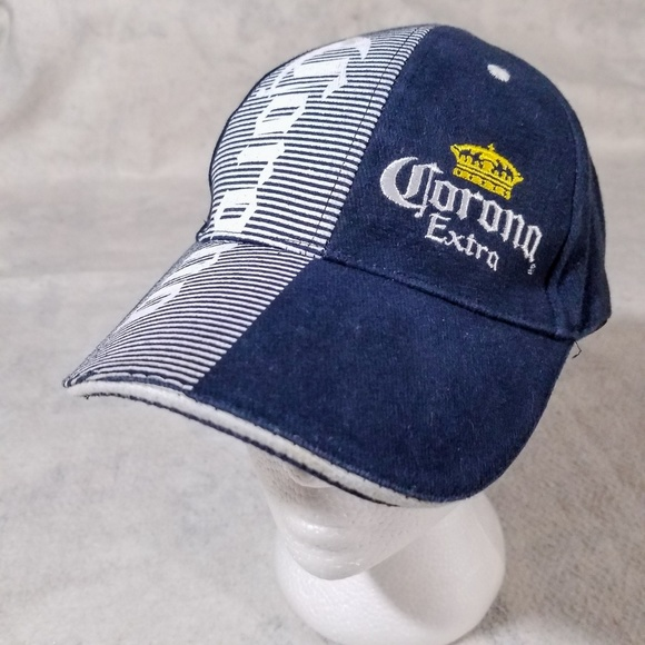 aa1529faed5 Corona Extra Blue   White Embroidered Spellout Hat